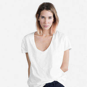 Everlane Cotton U-Neck Tee White XXS NWT
